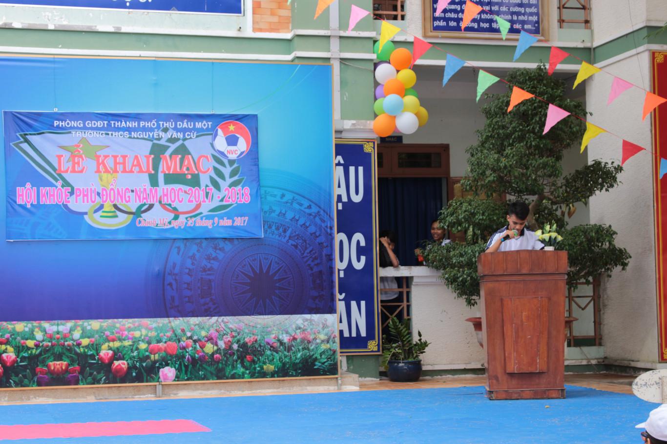 VĐV tiêu biểu Mai Lê Thanh Phong đọc lời hứa